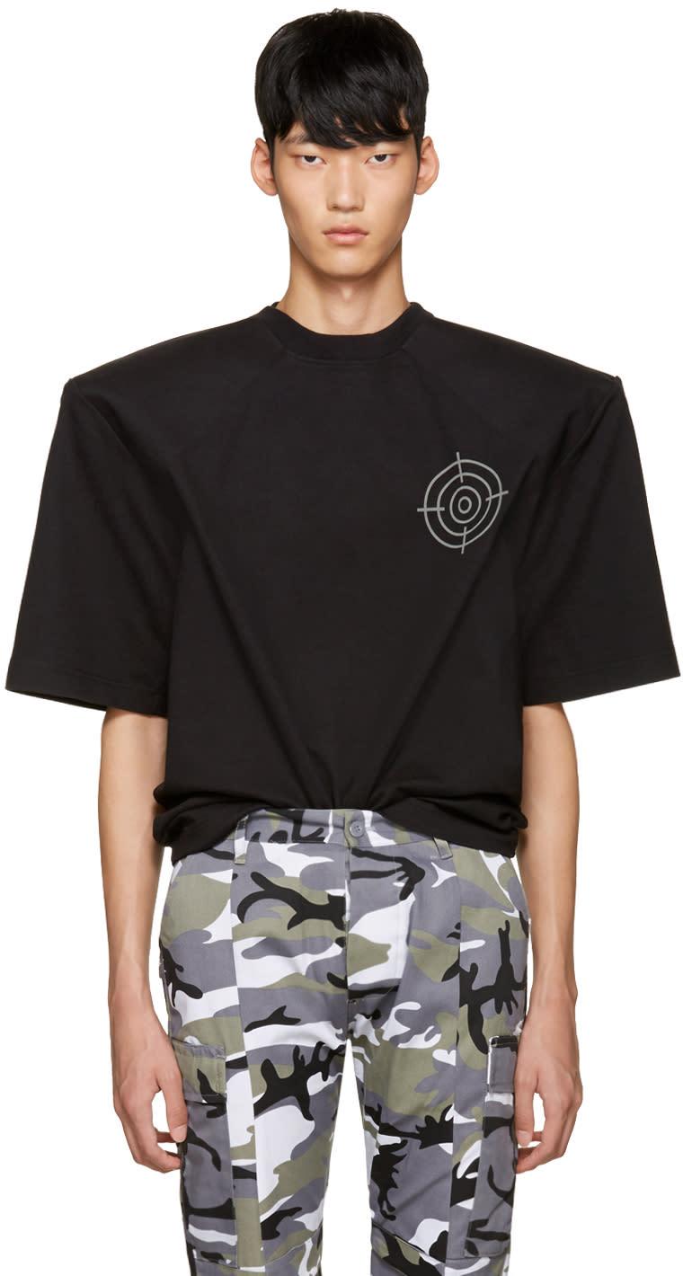 Vetements Black gun Club Football Shoulder T-shirt