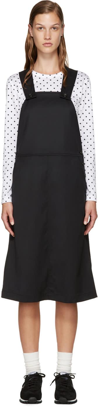 Comme Des Garcons Girl Black Wool Pinafore Dress