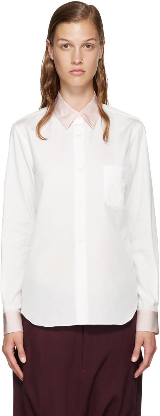 Comme Des Garcons Girl White Contrast Shirt