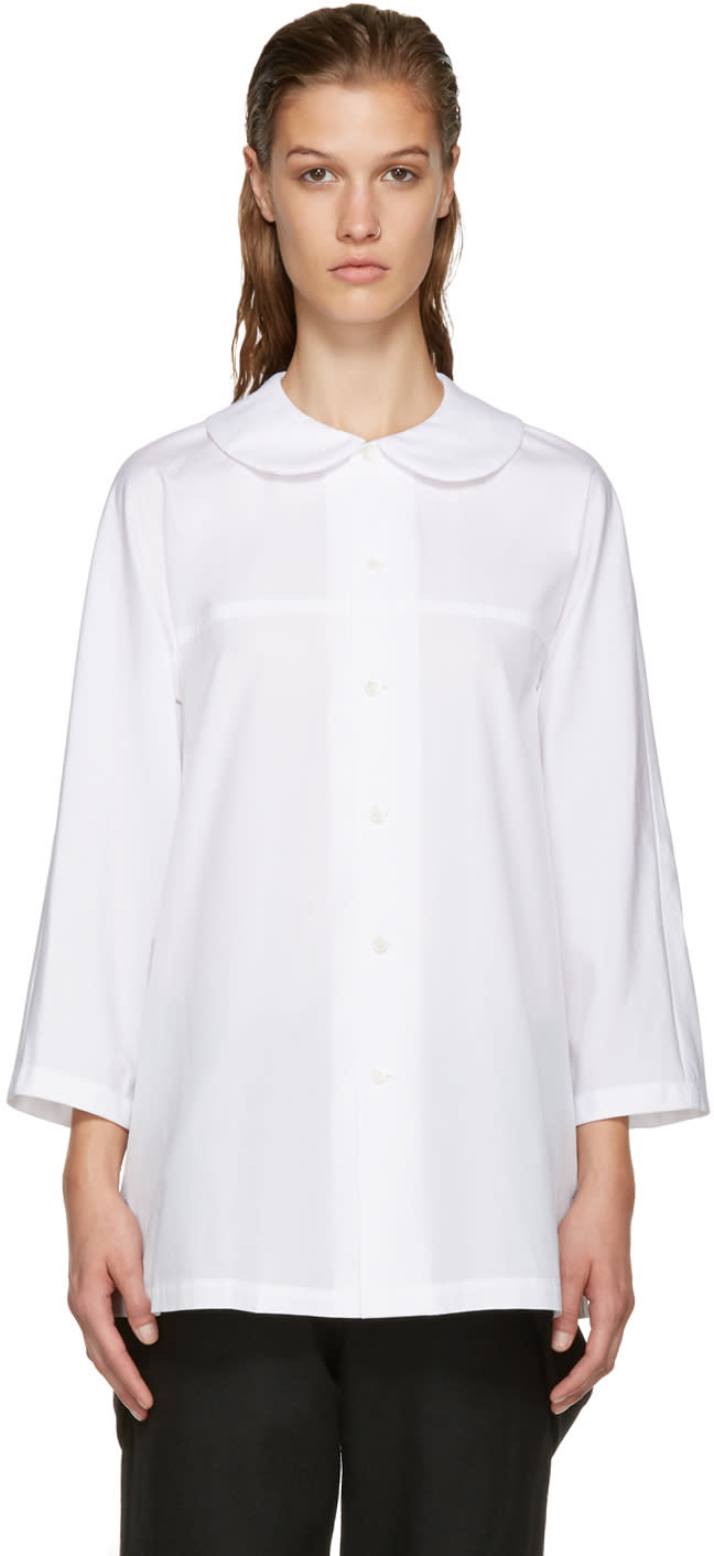 Comme Des Garcons White Big Collar Tunic