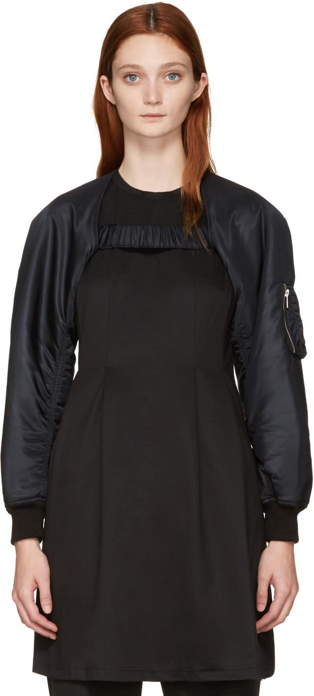 Noir Kei Ninomiya Black Bomber Jacket Sleeves