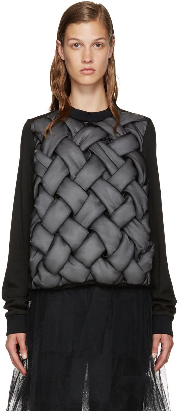 Noir Kei Ninomiya Black Padded 3d Pullover