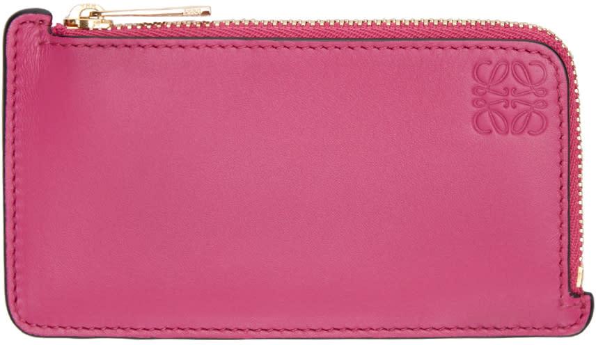 Loewe Pink Logo Card Holder
