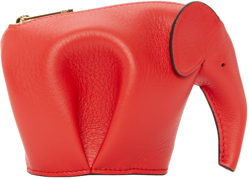 Loewe Red Elephant Coin Pouch