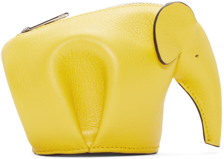 Loewe Yellow Elephant Coin Purse