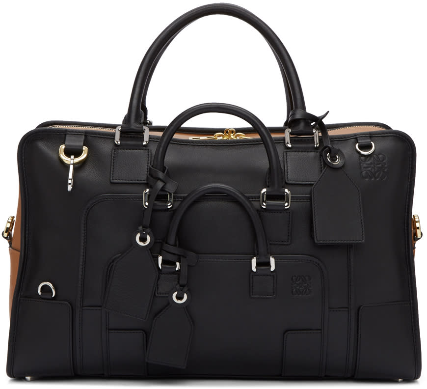 Loewe Black and Tan Amazona Multiplication 44 Bag