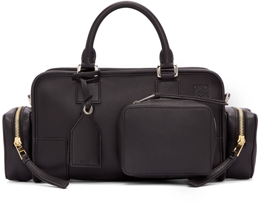 Loewe Black Amazona 28 Pockets Bag