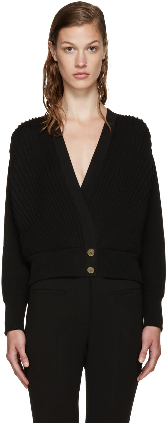Loewe Black Pleated Cardigan