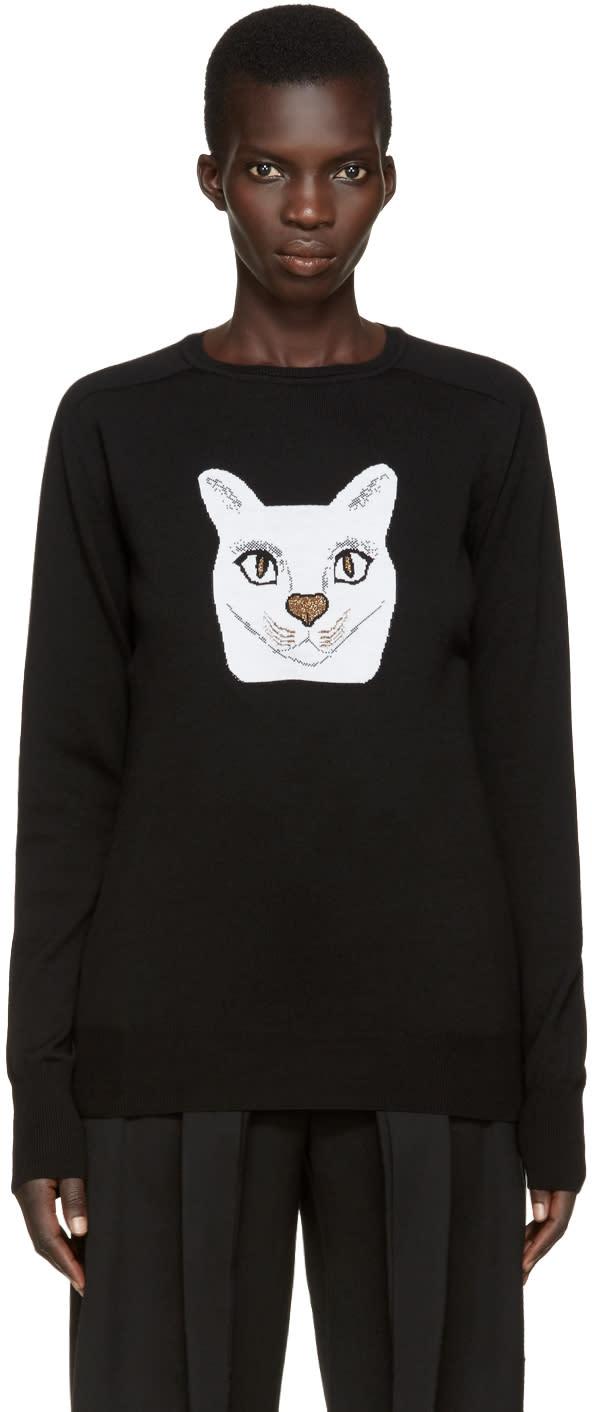 Loewe Black Jacquard Cat Pullover