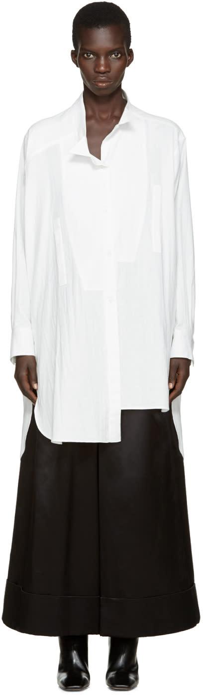 Loewe White Asymmetric Shirt