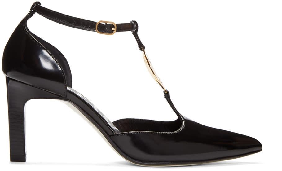 Loewe Black Logo Ring Heels