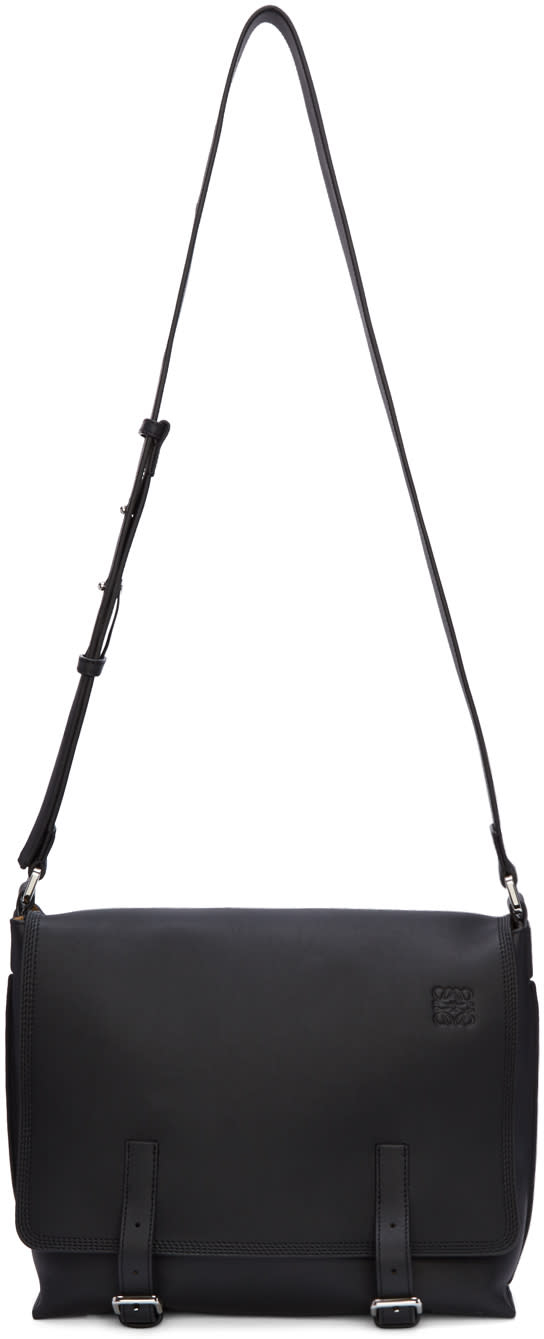 Loewe Black Small Military Messenger Bag