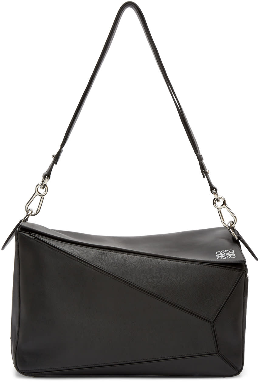 Loewe Black Extra Large Puzzle Bag