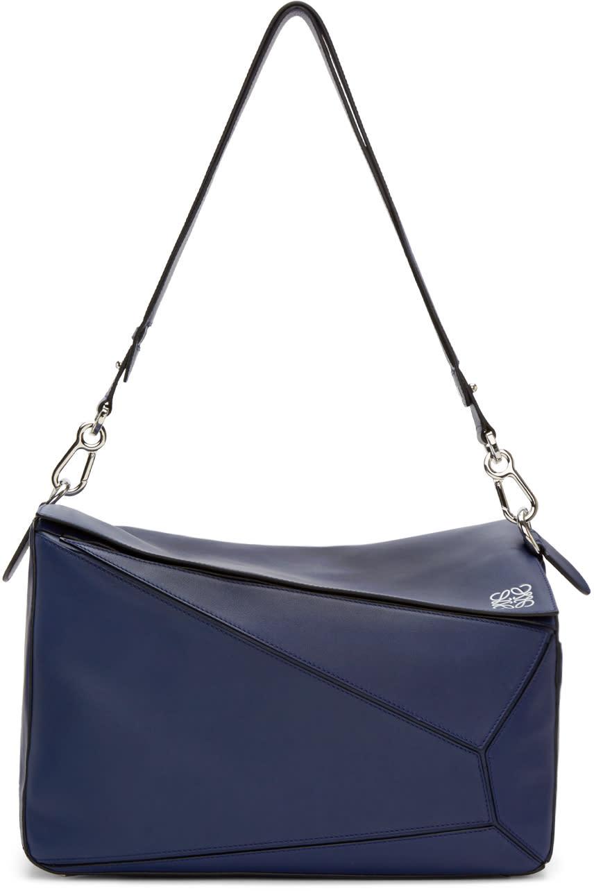 Loewe Navy Extra Large Puzzle Bag