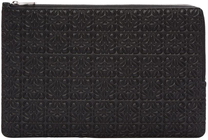 Loewe Black Flat Double Pouch