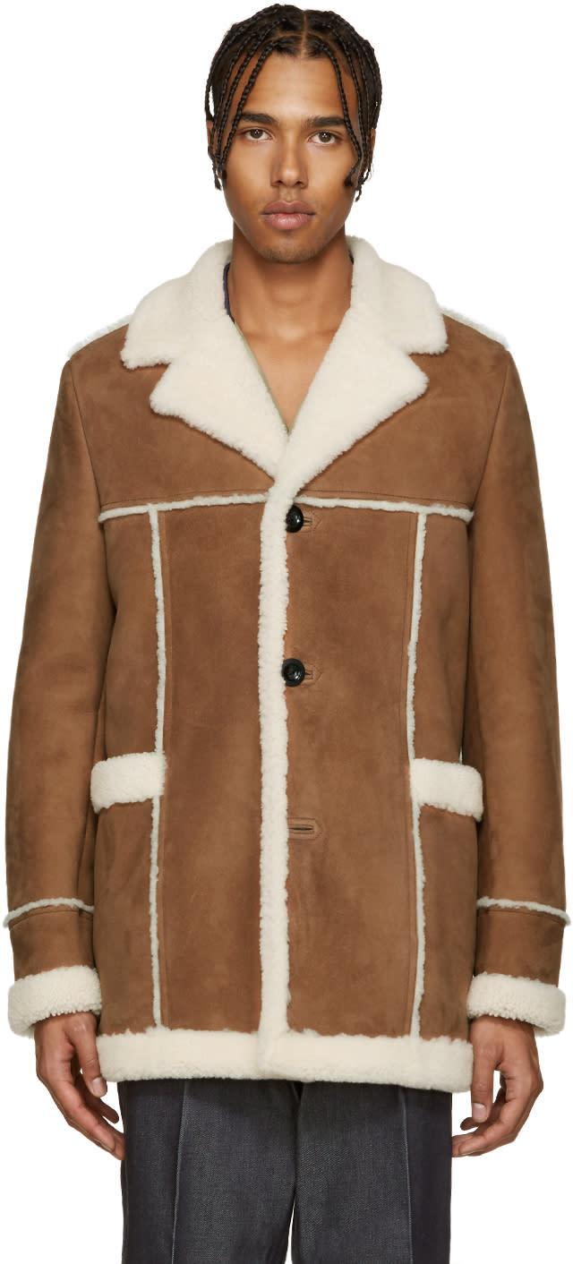 Loewe Brown Shearling Coat