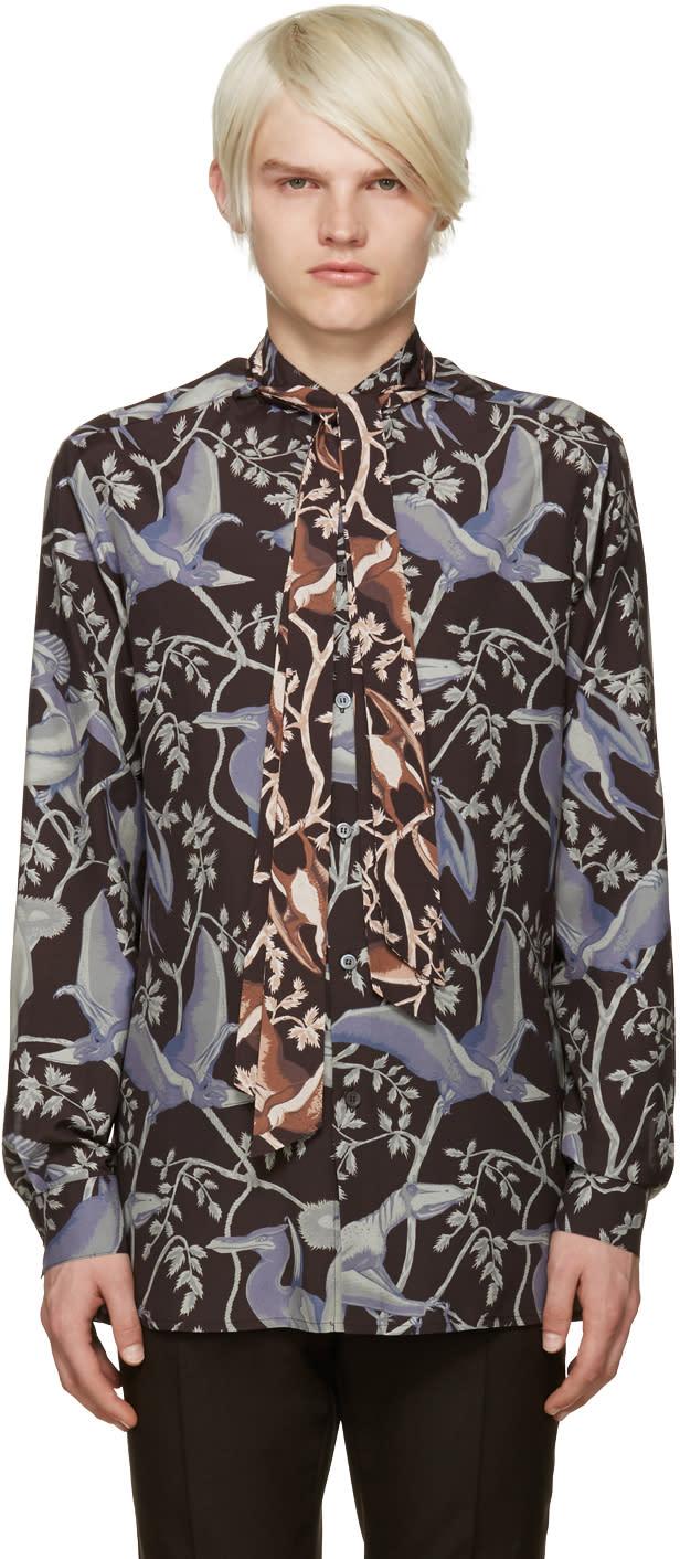 Loewe Multicolor Dinosaur Print Shirt
