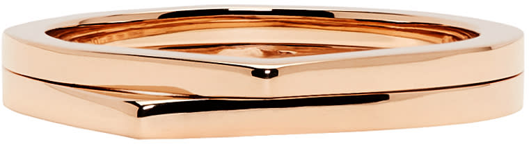 Repossi Rose Gold 2 Rows Antifer Phalanx Ring