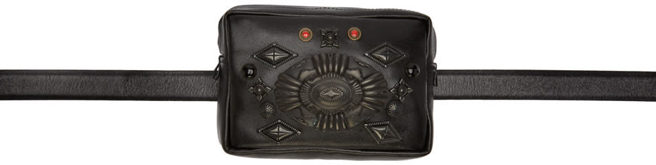 Toga Virilis Black Leather Bag Belt