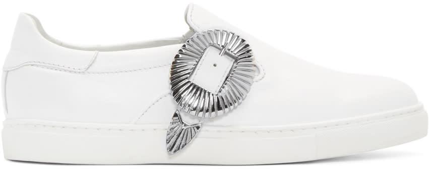Toga Virilis White Western Slip-on Sneakers