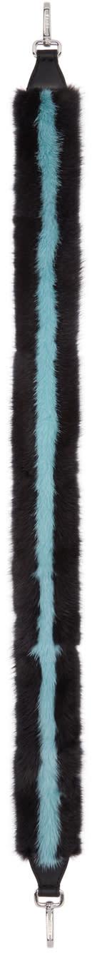 Fendi Black Mink strap You Shoulder Strap