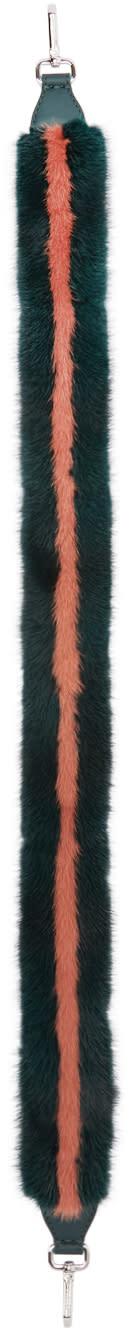 Fendi Green Mink strap You Shoulder Strap