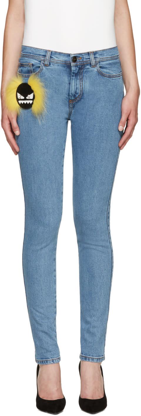 Fendi Blue Wonder Monster Jeans