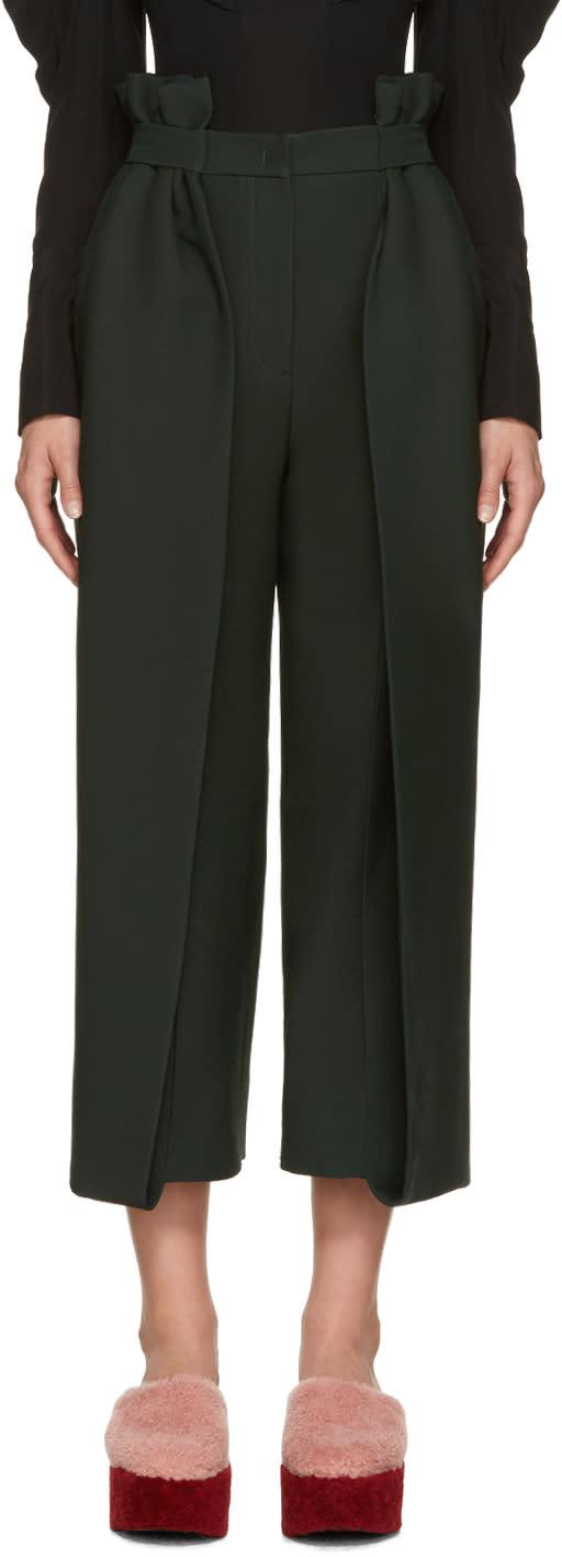 Fendi Green Ruffled Trousers