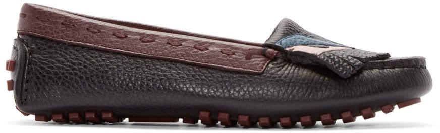 Fendi Multicolor Bug Eyes Loafers