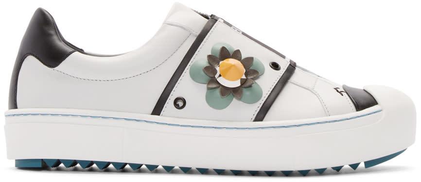 Fendi White Flowerland Sneakers