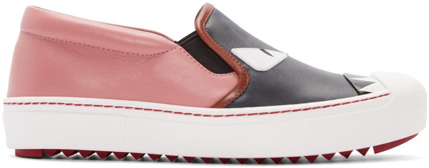 Fendi Multicolor Bug Eyes Slip-on Sneakers