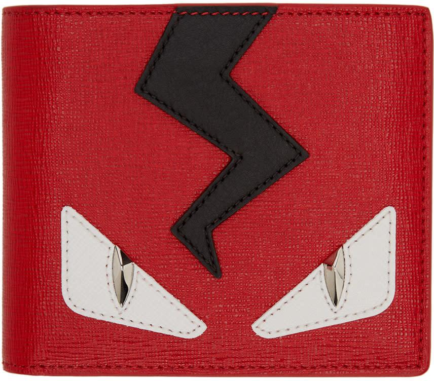 Fendi Red Monster Eyes Wallet