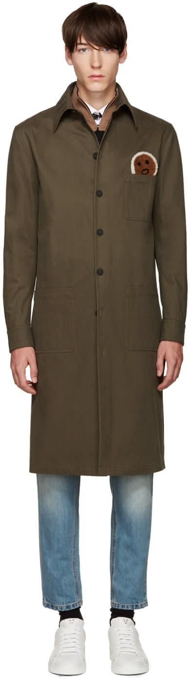 Fendi Green Military Face Jacket