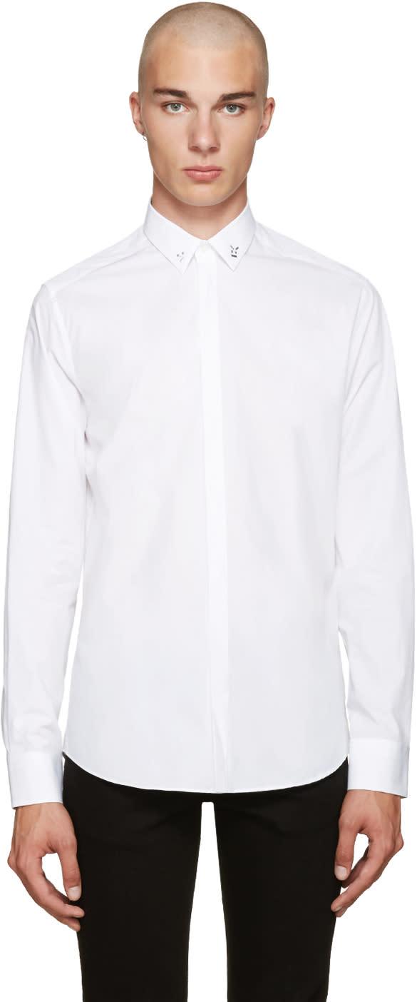 Fendi White Accent Collar Shirt