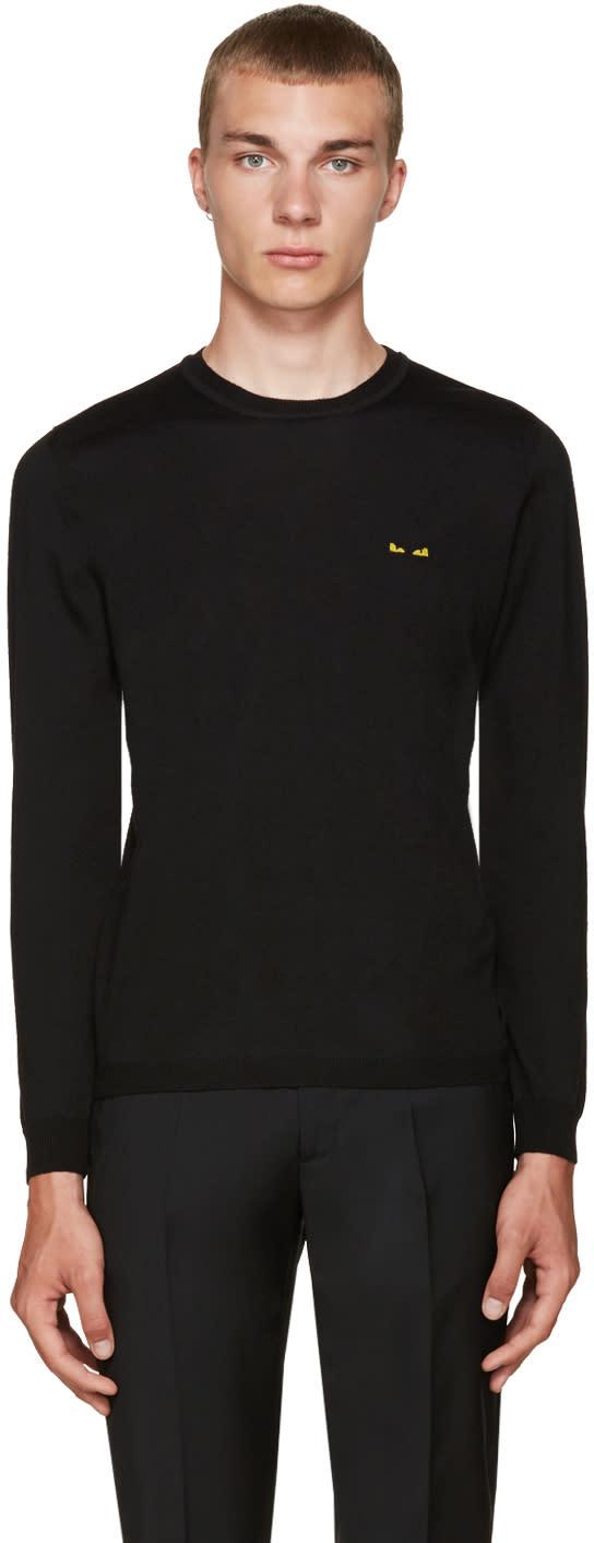 Fendi Black Mini Monster Eyes Sweater
