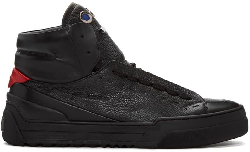 Fendi Black Monster Tongue High-top Sneakers