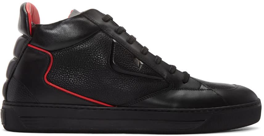 Fendi Black Bug Eyes High-top Sneakers