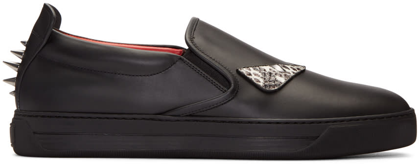 Fendi Black Monster Eyes Sneakers
