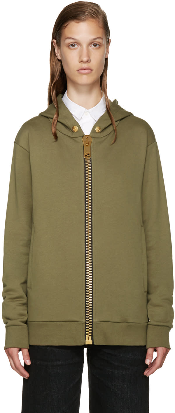 Palm Angels Green Maxi Puller Hoodie
