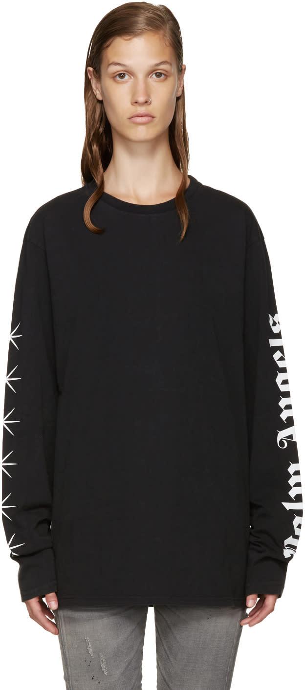 Palm Angels Ssense Exclusive Black Logo T-shirt