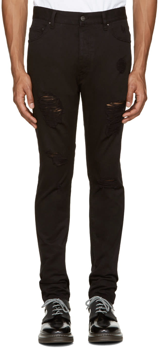 Palm Angels Black Ripped Jeans