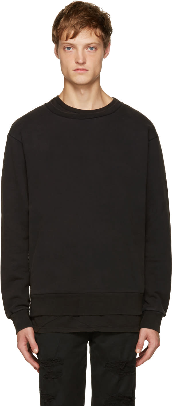 Palm Angels Black Maxi Puller Pullover