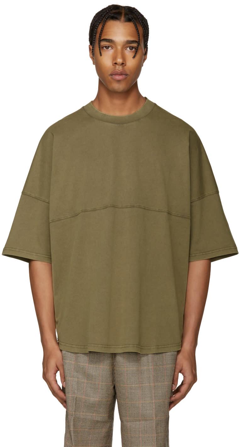 Palm Angels Green Basic T-shirt