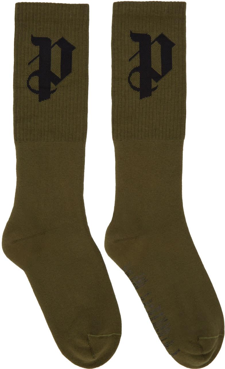 Palm Angels Green Pa Socks