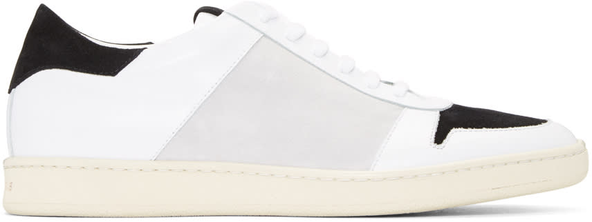 Palm Angels White and Grey Retro Sneakers
