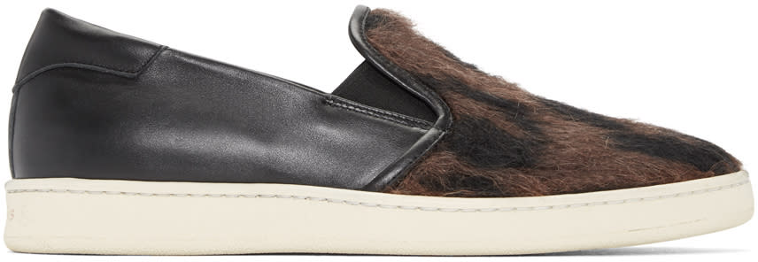 Palm Angels Black Baronetto Slip-on Sneakers