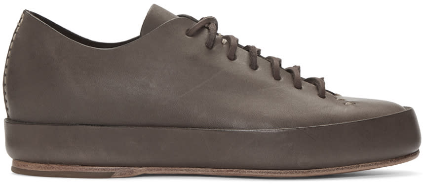 Feit Brown Leather Sneakers