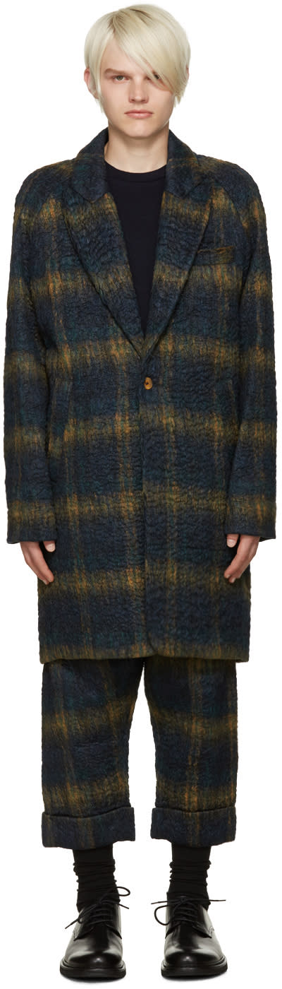 Song For The Mute Green Oversize Raglan Sleeve Coat