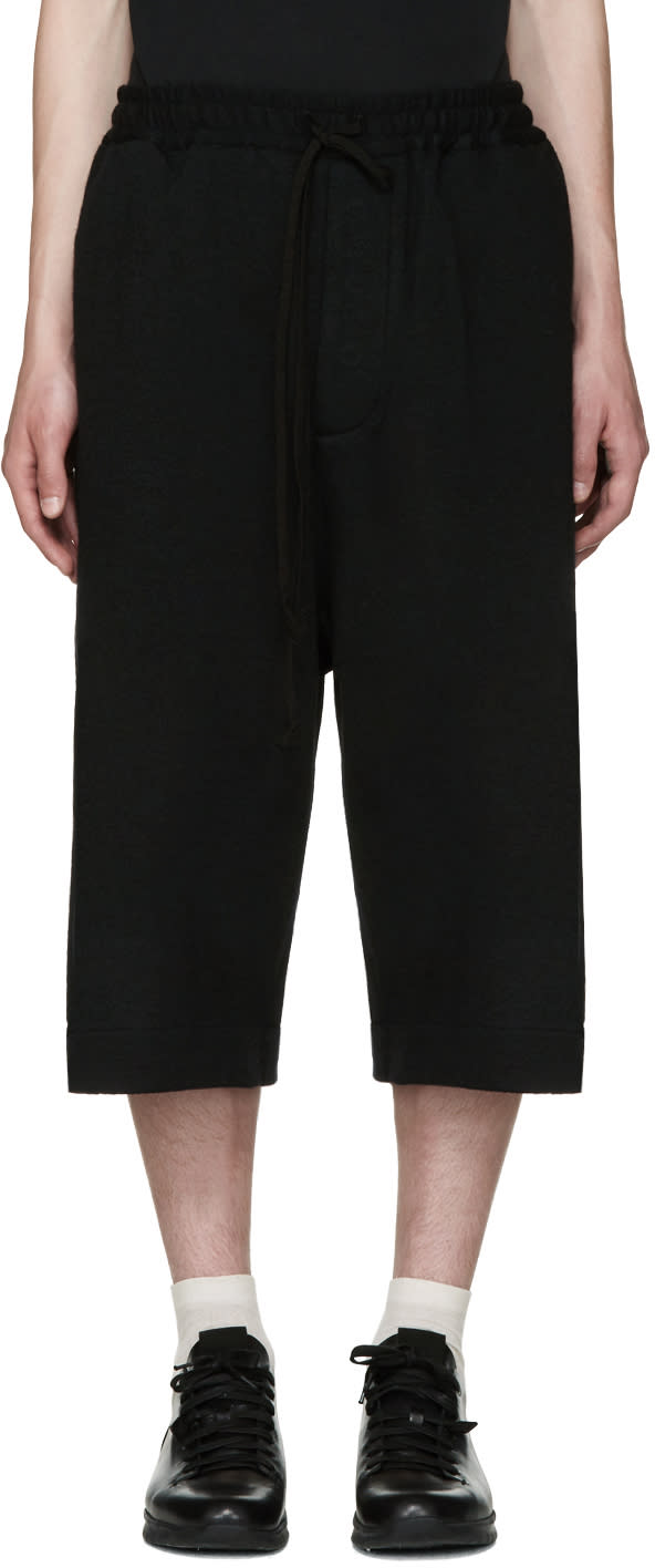 Song For The Mute Black Wool Shorts