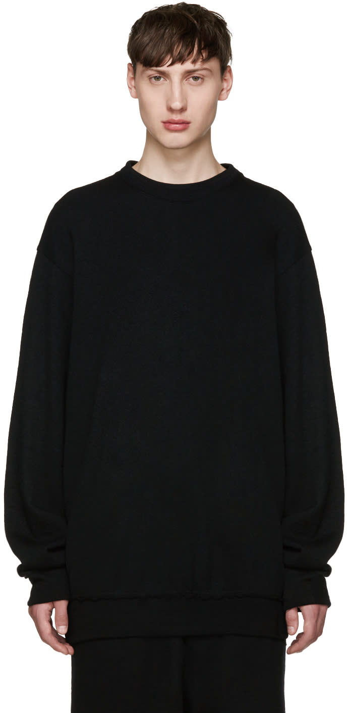 Song For The Mute Black Wool Sweater